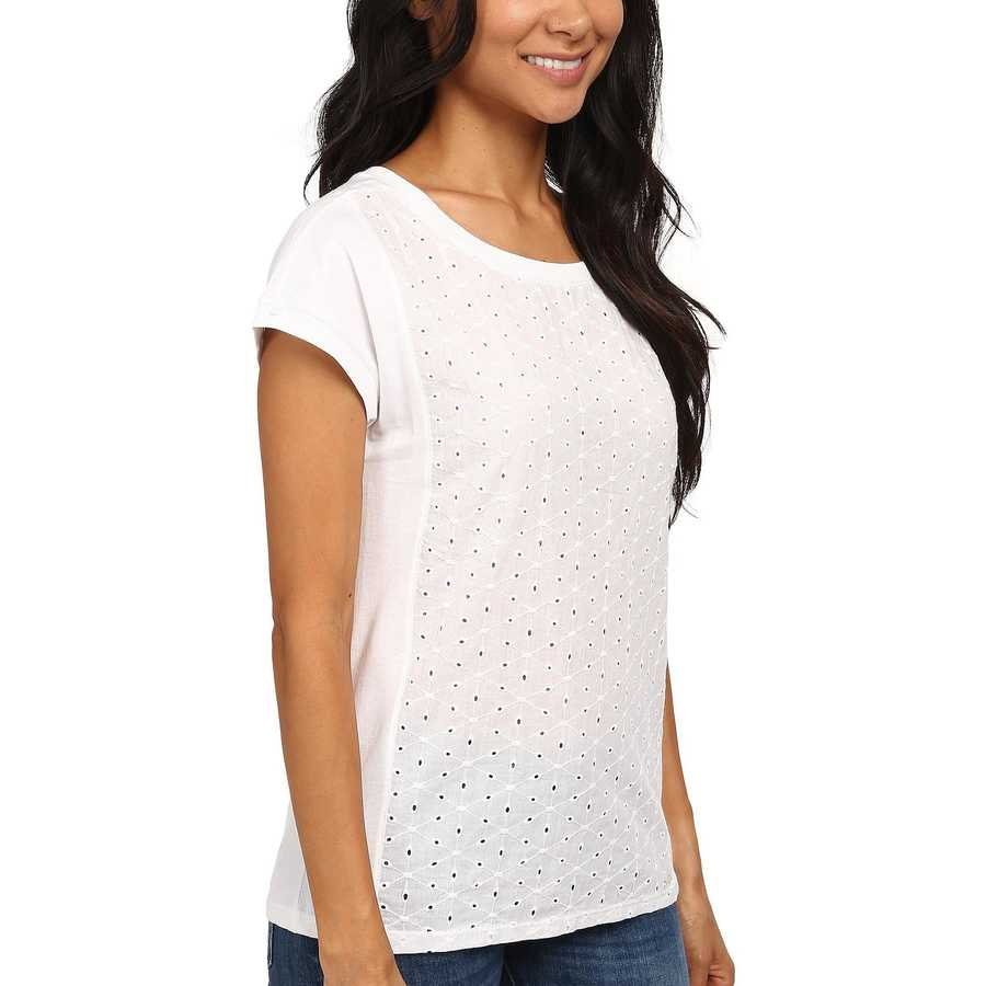 U.S. Polo Assn. Optic White Eyelet T-Shirt