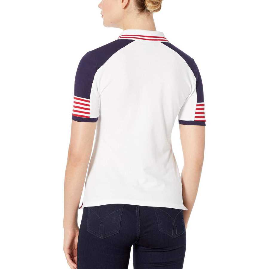 U.S. Polo Assn. Optic White Patch Shoulder Block Polo
