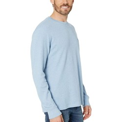 U.S. Polo Assn. Oxford Blue Heather Long Sleeve Crew Neck Solid Thermal Shirt - Thumbnail