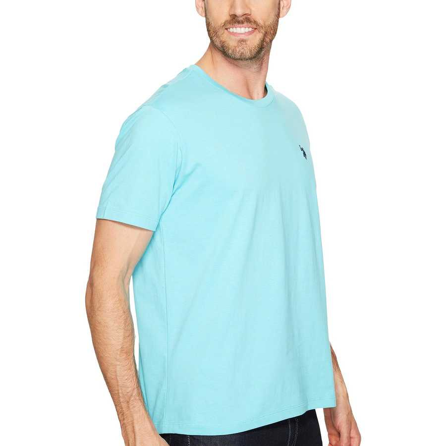 U.S. Polo Assn. Painters Aqua Crew Neck Small Pony T-Shirt