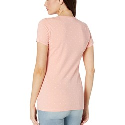 U.S. Polo Assn. Papaya Dot V-Neck Tee - Thumbnail