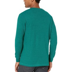 U.S. Polo Assn. Peacock Heather Long Sleeve Crew Neck Solid Thermal Shirt - Thumbnail