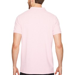 U.S. Polo Assn. Pink Sunset Heather Solid Cotton Pique Polo With Small Pony - Thumbnail