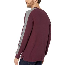 U.S. Polo Assn. Port Wine Arm Color Block Thermal Crew - Thumbnail