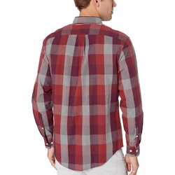 U.S. Polo Assn. Port Wine Heather Long Sleeve Classic Fit Plaid Heather Woven - Thumbnail