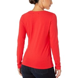 U.S. Polo Assn. Racing Red Solid Long Sleeve Stretch Tee - Thumbnail