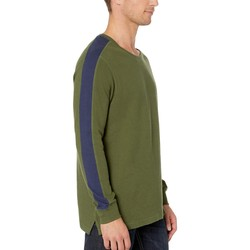 U.S. Polo Assn. Rifle Green Arm Color Block Thermal Crew - Thumbnail