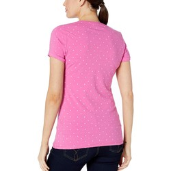 U.S. Polo Assn. Rose Solaire Dot V-Neck Tee - Thumbnail