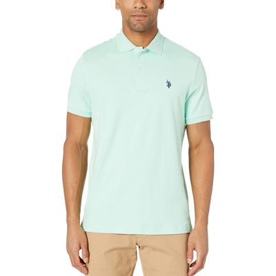 U.S. Polo Assn. Sea Mist Solid Interlock Polo