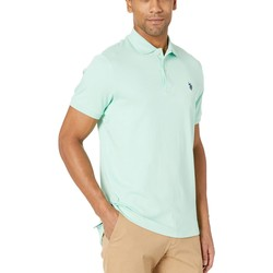 U.S. Polo Assn. Sea Mist Solid Interlock Polo - Thumbnail