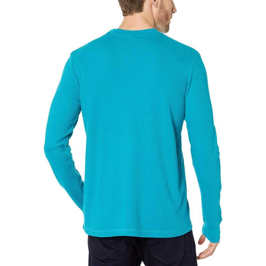U.S. Polo Assn. Shocking Peacock Long Sleeve Crew Neck Solid Thermal Shirt
