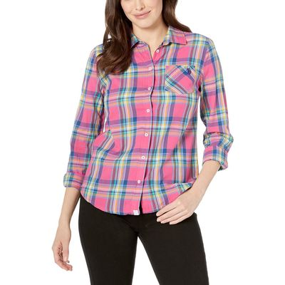 U.S. Polo Assn. - U.S. Polo Assn. Shocking Poppy Plaid Woven Shirt