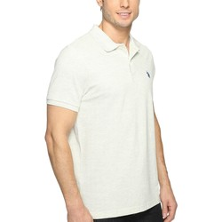 U.S. Polo Assn. Summer Oatmeal Solid Cotton Pique Polo With Small Pony - Thumbnail