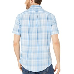 U.S. Polo Assn. Tahoe Blue Short Sleeve Medium Plaid Woven - Thumbnail