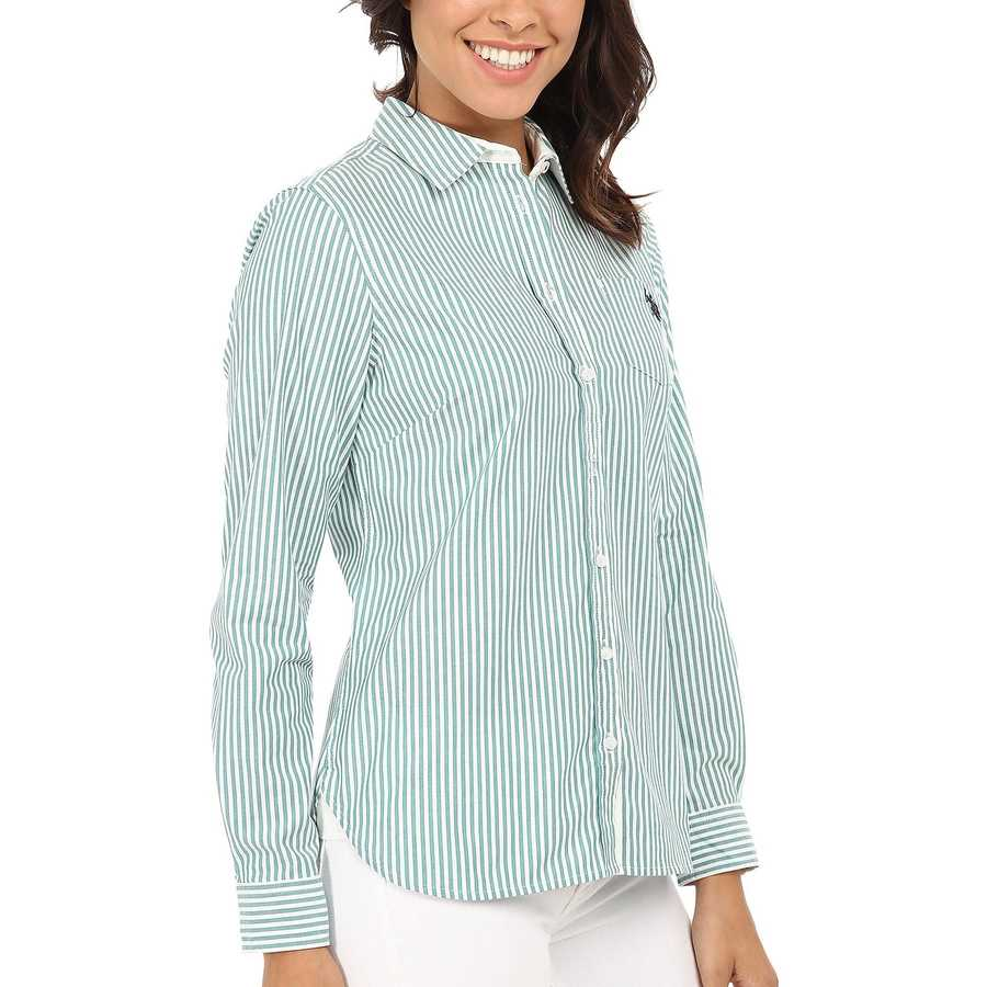 U.S. Polo Assn. Tide Pool Long Sleeve Vertical Stripe Shirt