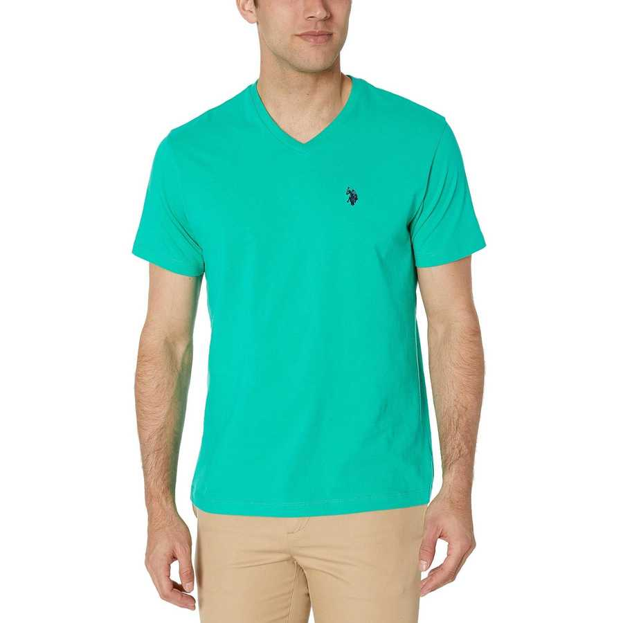 U.S. Polo Assn. Tracksuit Green V-Neck Tee