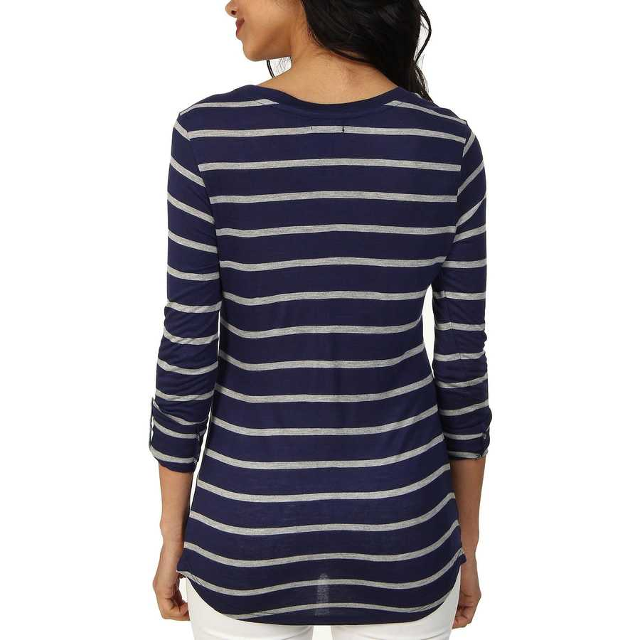 U.S. Polo Assn. Tribal Navy Striped Long Sleeve Pocket T-Shirt