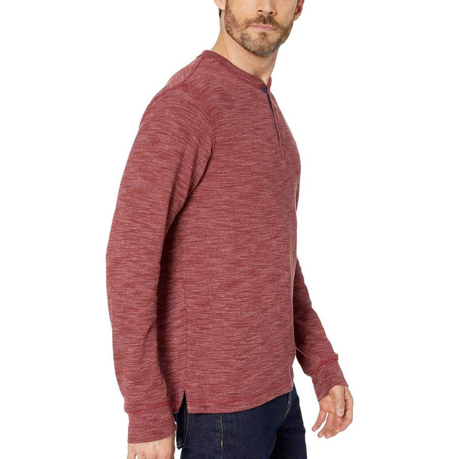U.S. Polo Assn. University Red Space Dye Thermal Henley
