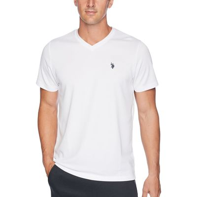 U.S. Polo Assn. - U.S. Polo Assn. White Performance V-Neck T-Shirt
