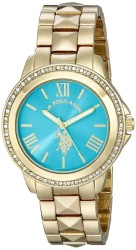 U.S. Polo Assn. Women's Analog Display Analog Quartz Gold Toned Casual Watch USC40076 USC40076 - Thumbnail