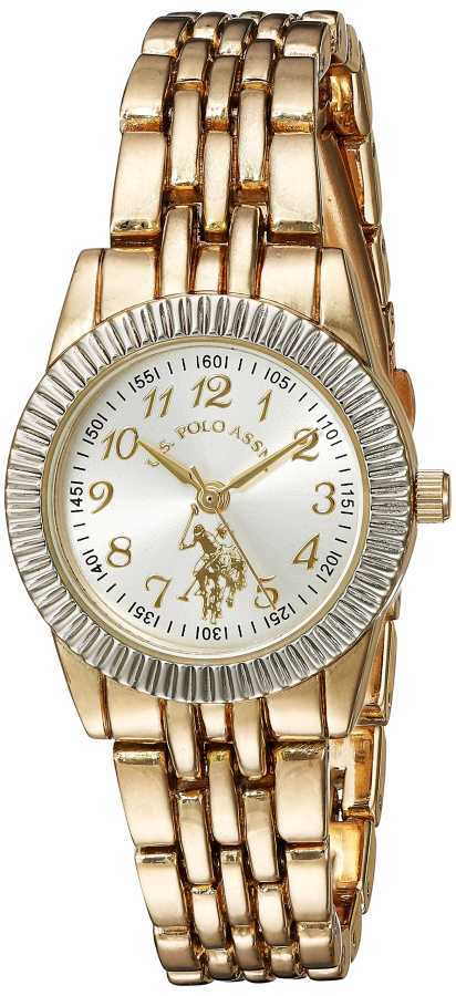 U.S. Polo Assn. Women's Quartz and Alloy Casual Gold Toned Casual Watch USC40098 USC40098