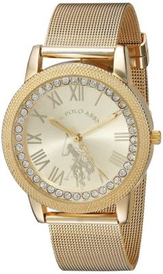 U.S. Polo Assn. - U.S. Polo Assn. Women's Quartz and Alloy Casual Gold Toned Casual Watch USC40110 USC40110