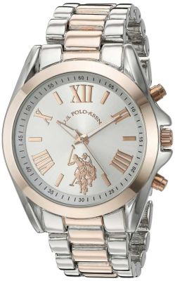 U.S. Polo Assn. - U.S. Polo Assn. Women's Quartz and Alloy Casual Tone Two Tone Casual Watch USC40118 USC40118