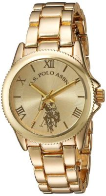 U.S. Polo Assn. - U.S. Polo Assn. Women's Quartz and Alloy Gold Toned Casual Watch USC40043 USC40043