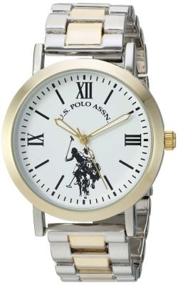 U.S. Polo Assn. - U.S. Polo Assn. Women's Quartz and Alloy Tone Two Tone Casual Watch USC40261AZ USC40261AZ