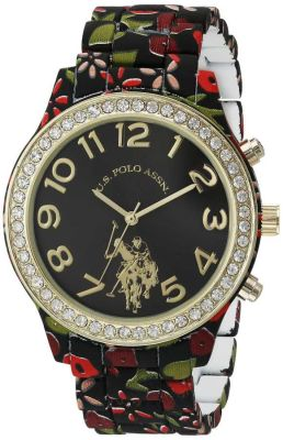 U.S. Polo Assn. - U.S. Polo Assn. Women's Quartz and Alloy Tone Two Tone Dress Watch USC40108 USC40108