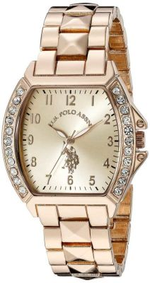 U.S. Polo Assn. - U.S. Polo Assn. Women's Rose Gold-Tone Bracelet Rose Gold Toned Dress Watch USC40074 USC40074