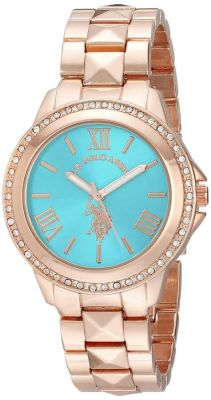 U.S. Polo Assn. - U.S. Polo Assn. Women's Rose Gold-Tone Bracelet Rose Gold Toned Dress Watch USC40079 USC40079