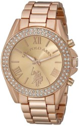 U.S. Polo Assn. Women's Rose Gold Toned Dress Watch with Crystals USC40037 USC40037 - Thumbnail