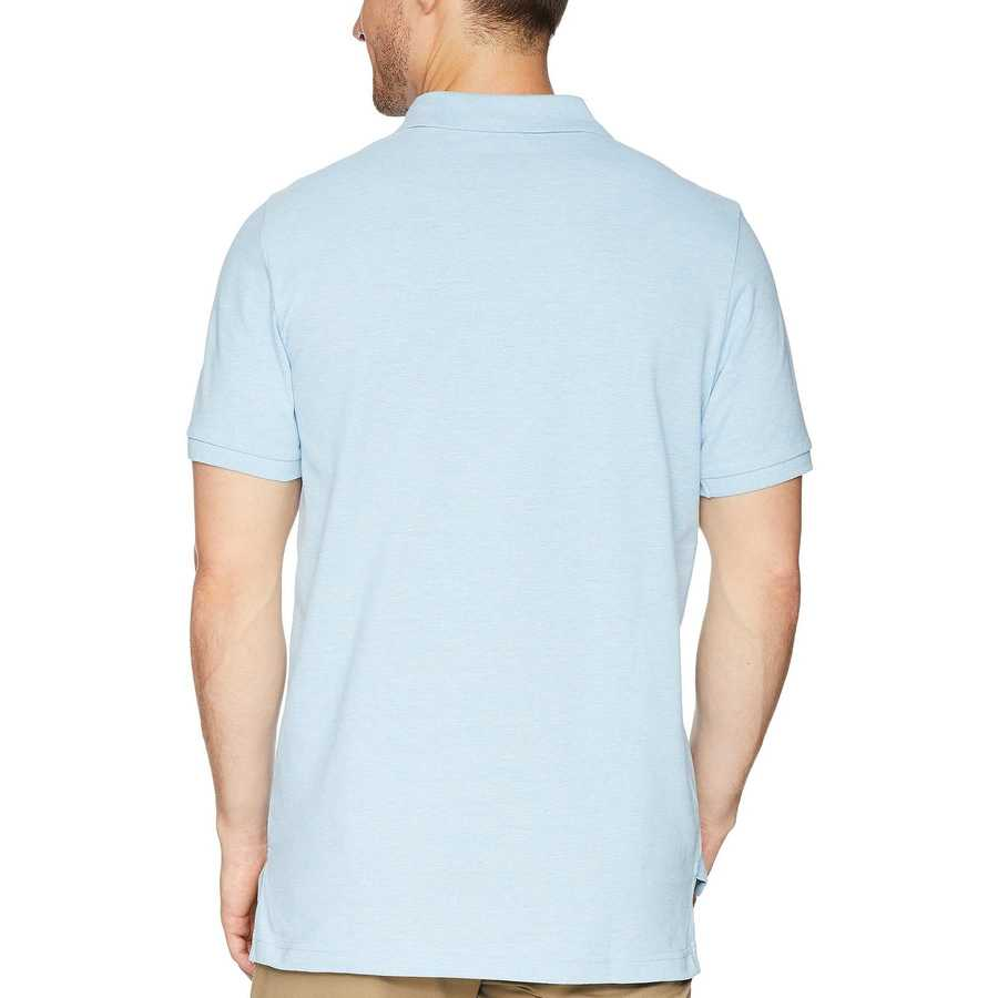 U.S. Polo Assn. Yale Blue Heather Solid Cotton Pique Polo With Small Pony