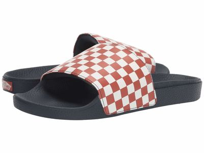 Vans - Vans Men (Checkerboard) Burnt Brick/Dress Blues Slide-On Active Sandals