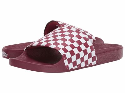 Vans - Vans Men (Checkerboard) Rumba Red/White Slide-On Active Sandals