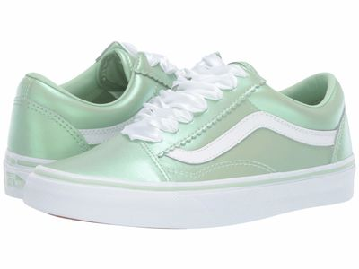 Vans - Vans Men (Pearl Suede) Pastel Green/True White Old Skool™ Athletic Shoes