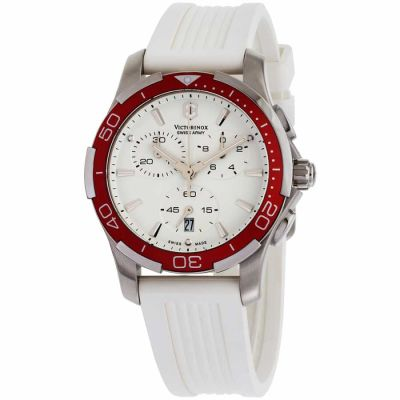 Victorinox - Victorinox Alliance White Dial Silicone Strap Ladies Watch 241504