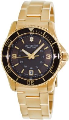 Victorinox - Victorinox Swiss Army Maverick Brown Gold PVD Ladies Watch 241614