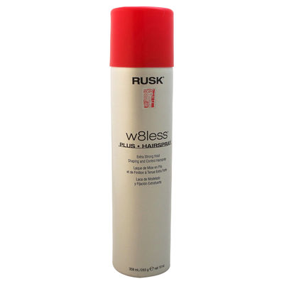 Rusk - W8less Plus Extra Strong Hold Shaping and Control Hair Spray 10oz