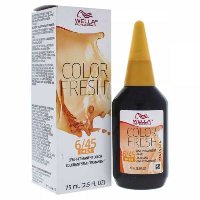 Wella - Wella Color Fresh Semi-Permanent Color - 6 45 Dark Blonde-Red Red-Violet 2.5 oz