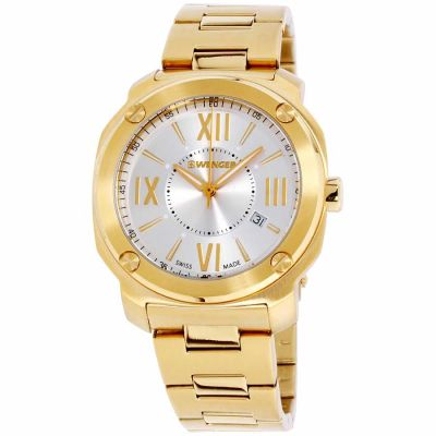 Wenger - Wenger Edge Romans Gold Dial Stainless Steel Men's Watch 01.1141.122