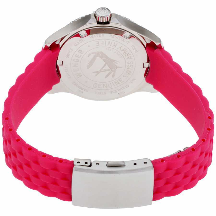 Wenger Squadron Lady Silver Dial Silicone Strap Ladies Watch 01.0121.101
