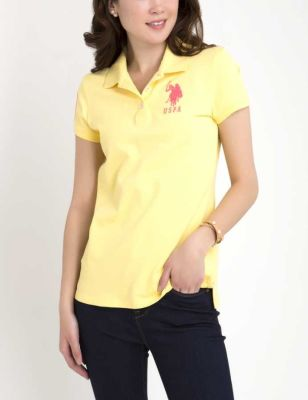 U.S. Polo Assn. - Women Acapulco Yellow Polo Shirt With Detailed Collar