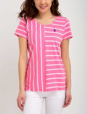 U.S. Polo Assn. - Women Morning Glory Mix Stripe Tee