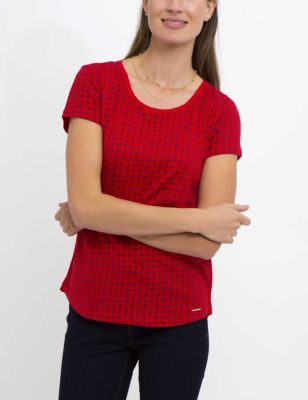 U.S. Polo Assn. - Women Racing Red Printed Tee