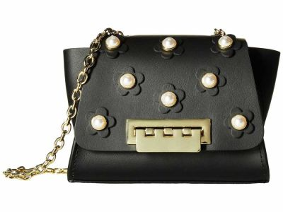 Zac Zac Posen - ZAC Zac Posen Black Eartha Iconic Floral Mini Chain Cross Body Bag