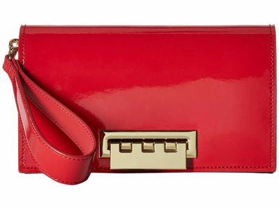 Zac Posen - Zac Zac Posen Chili Pepper Earthette Clutch Patent Clutch Bag