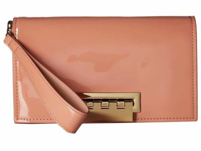 Zac Zac Posen - ZAC Zac Posen Rose Cloud Patent Earthette Clutch Bag